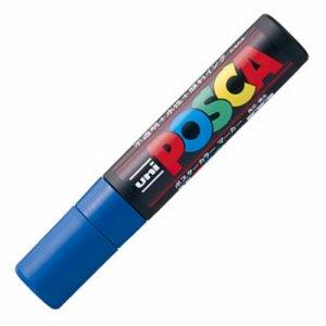 三菱鉛筆 PC17K.33 水性マーカー ポスカ 極太角芯 青