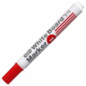 TS-WBMBG-R ホワイトボードマーカー 中字丸芯 赤 12本セット 汎用品