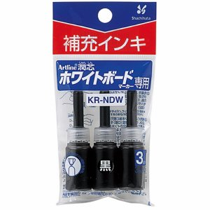 シャチハタ KR-NDW-K アートライン潤芯ホワイトボードマーカー用補充インキ 黒