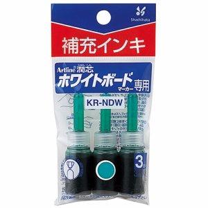シャチハタ KR-NDW-G アートライン潤芯ホワイトボードマーカー用補充インキ 緑