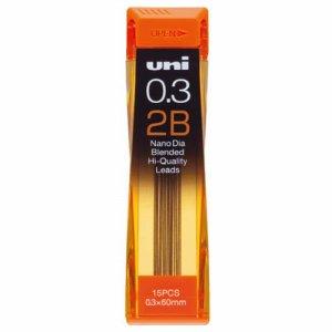 三菱鉛筆 U03202ND2B シャープ替芯 ユニ ナノダイヤ 0.3mm 2B