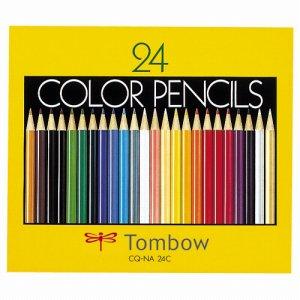 トンボ CQ-NA24C 色鉛筆 紙箱 24色(各色1本)