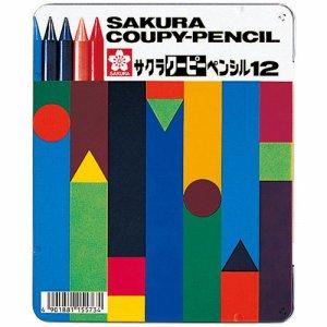 サクラクレパス FY12 クーピーペンシル 12色(各色1本) 缶入