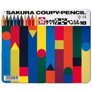 サクラクレパス FY18 クーピーペンシル 18色(各色1本) 缶入