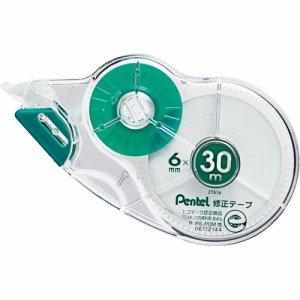 ペンテル XZT516-W 修正テープ 使い切りタイプ 30m巻 ピタットライン付 6mm幅