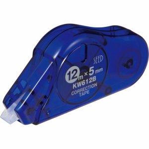SEED KW612B-10P 修正テープ ケシワードロング 5mm幅×12M ブルー 使いきりタイプ