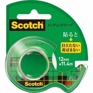 3M CM-12 スコッチ メンディングテープ 使い切りタイプ 小巻 12mm×11.4M ディスペンサー付