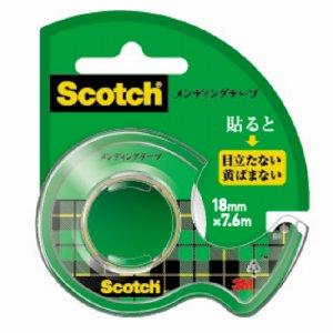 3M CM-18 スコッチ メンディングテープ 使い切りタイプ 小巻 18mm×7.6M ディスペンサー付