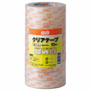 TCT18 クリアテープ 18mm×35M 1セット(240巻:10巻×24パック) 汎用品