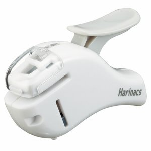 コクヨ SLN-MSH305W 針ナシステープラー(ハリナックスコンパクトα) 5枚トジ 白