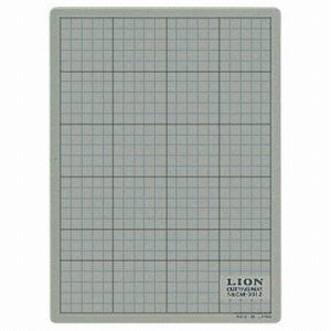 ライオン CM-3012 カッティングマット 再生PVC製 両面使用 300×220×3mm 灰 /黒