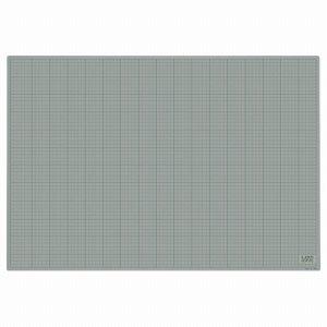 ライオン CM-9012 カッティングマット 再生PVC製 両面使用 900×620×3mm 灰 /黒