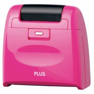PLUS IS-510CMピンク個人情報保護スタンプ ローラーケシポン ワイド 本体 ピンク