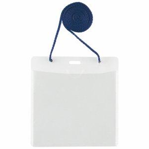 PLUS CT-E1ブル- イベント用 吊り下げ式 名札 イベントサイズ ブルー CT-E1