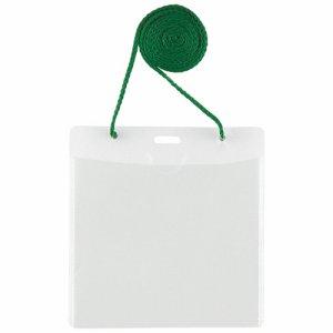PLUS CT-E1グリ-ン イベント用 吊り下げ式 名札 イベントサイズ グリーン CT-E1