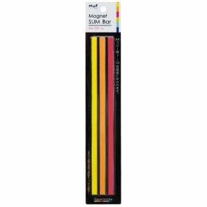マグエックス MSLB-220-3P-H マグネットスリムバー W220×H6×D7mm 暖色(桃・橙・黄)