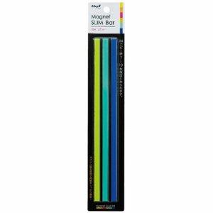 マグエックス MSLB-220-3P-C マグネットスリムバー W220×H6×D7mm 寒色(青・水色・黄緑)