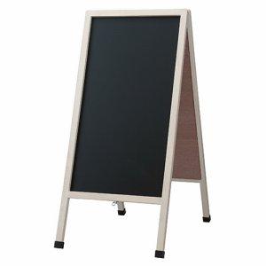レイメイ藤井 LNB118 アンティークA型ブラックボード ホワイト仕上げ Lサイズ W500×D750×H1105mm