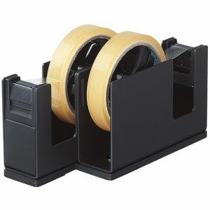 コクヨ T-SM110D テープカッター カルカット(2連タイプ) 黒