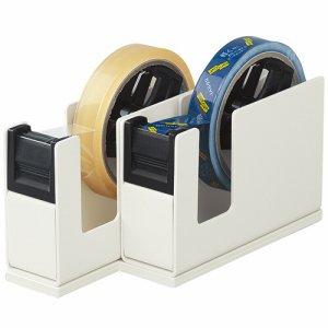 コクヨ T-SM110LM テープカッター カルカット(2連タイプ) ライトグレー