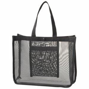 POLI-A4 メッシュバッグ A4ワイド 黒 汎用品