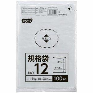 TSHK-LTW12 規格袋 12号 0.02×230×340mm 1セット1000枚 汎用品