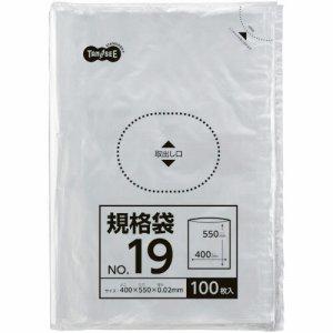 TSHK-LTW19 規格袋 19号 0.02×400×550mm 1セット1000枚 汎用品