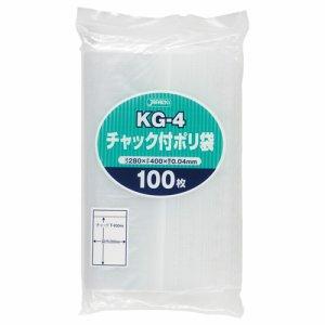 ジャパックス KG-4 チャック付ポリ袋 ヨコ280×タテ400×厚み0.04mm