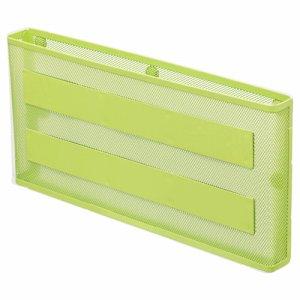 LIHIT A-7392-6 マグネットポケット A4ヨコ 黄緑