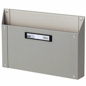 TSMBA4-G マグネットボックス(貼り表紙) A4ヨコ型 グレー 汎用品