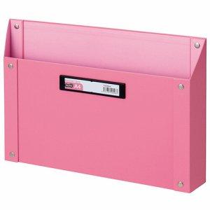 TSMBA4-P マグネットボックス(貼り表紙) A4ヨコ型 ピンク 汎用品