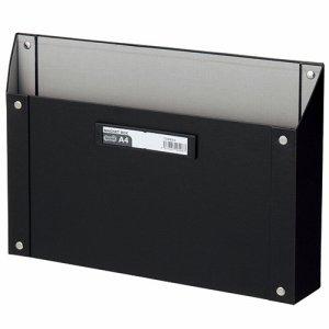 TSMBA4-K マグネットボックス(貼り表紙) A4ヨコ型 黒 汎用品