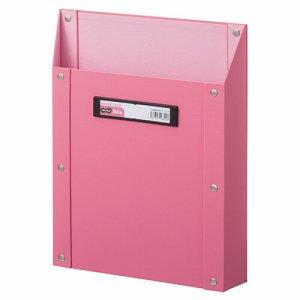 TSMBA4S-P マグネットボックス(貼り表紙) A4タテ型 ピンク 汎用品
