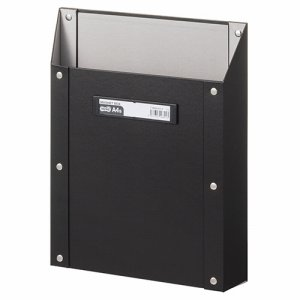 TSMBA4S-K マグネットボックス(貼り表紙) A4タテ型 黒 汎用品