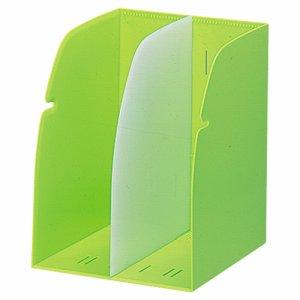LIHIT G1620-6 REQUEST ブックスタンド 2ブロック 黄緑