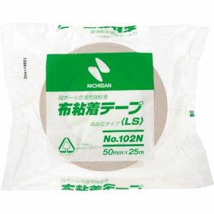 ニチバン 102N7-50 布粘着テープ 50mm×25M 黄土
