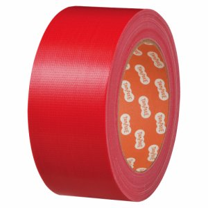 TSCC50RE 布テープ(カラー) 50mm×25M 赤 1セット(30巻) 汎用品