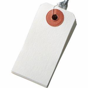 今村紙工 TH-6 耐水紙 針金荷札 6号 30×60mm