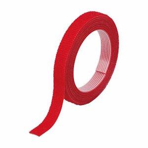 TRUSCO MKT-1015-R マジックバンド結束テープ 両面タイプ 赤 10mm×1.5m