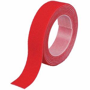 TRUSCO MKT-2015-R マジックバンド結束テープ 両面タイプ 赤 20mm×1.5m