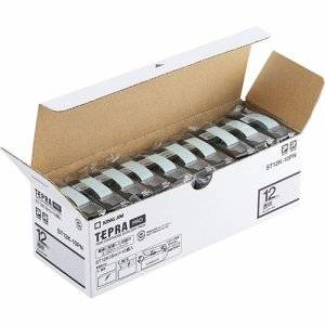 KINGJIM ST12K-10PN テプラ PRO テープカートリッジ 12mm 透明/黒文字 エコパック