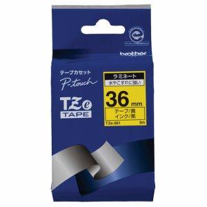 BROTHER TZE-661 ピータッチ TZEテープ ラミネートテープ 36mm 黄 /黒文字