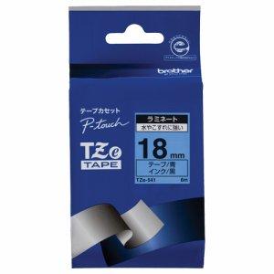BROTHER TZE-541 ピータッチ TZEテープ ラミネートテープ 18mm 青 /黒文字