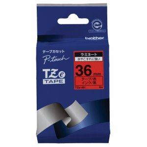 BROTHER TZE-461 ピータッチ TZEテープ ラミネートテープ 36mm 赤 /黒文字