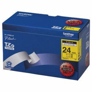 BROTHER TZE-651V ピータッチ TZEテープ ラミネートテープ 24mm 黄 /黒文字 業務用パック