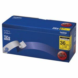 BROTHER TZE-661V ピータッチ TZEテープ ラミネートテープ 36mm 黄 /黒文字 業務用パック