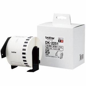 BROTHER DK-2251 DKテープ 長尺紙テープ 62mm×15.24M 白 /黒赤文字