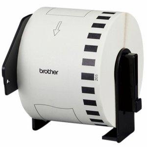 BROTHER DK-4205 DKテープ 長尺紙テープ(大) 再剥離(弱粘着タイプ) 62mm×30.48M 白 /黒文字