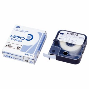 マックス LM-TP312W レタツイン テープカセット 12mm幅×8M巻 白