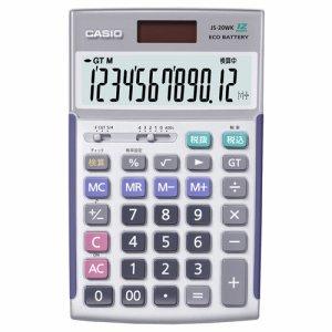 CASIO JS-20WK 本格実務電卓 12桁 ジャストタイプ